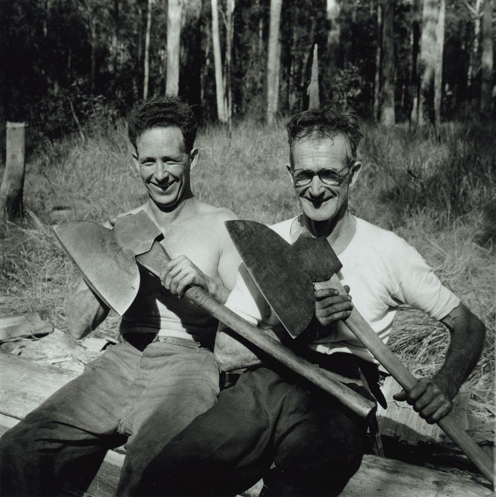 Broadaxe Men, Telegraph Point, New South Wales, 1955