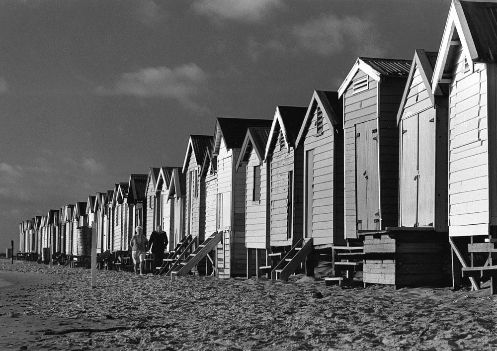 Beach houses, Brighton Beach, Victoria, 1961