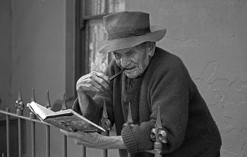 Escapist reader, Chippendale, 1960
