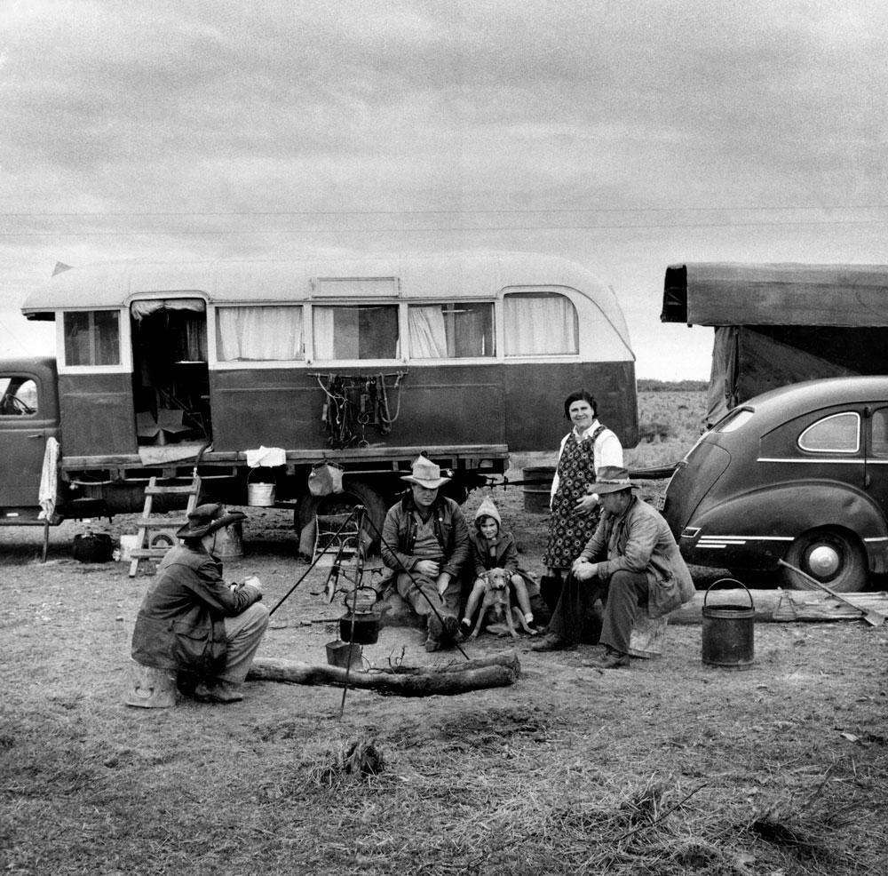 On The Road, near Ivanhoe, 1955