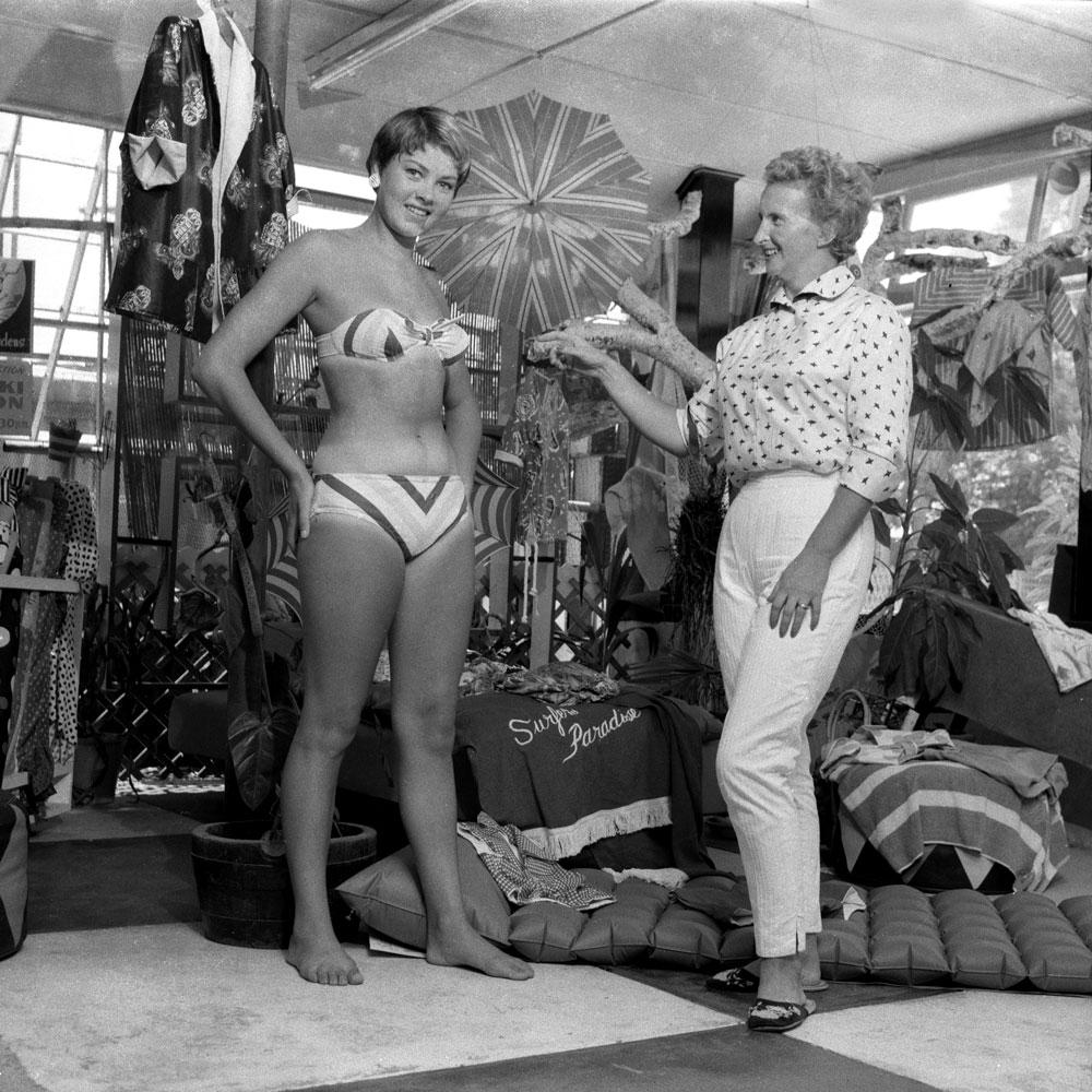 Birth of the bikini, Gold Coast, c. 1955