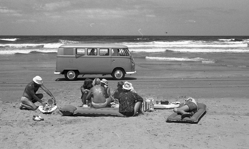 Picnic hazards, Seven Mile Beach, 1967